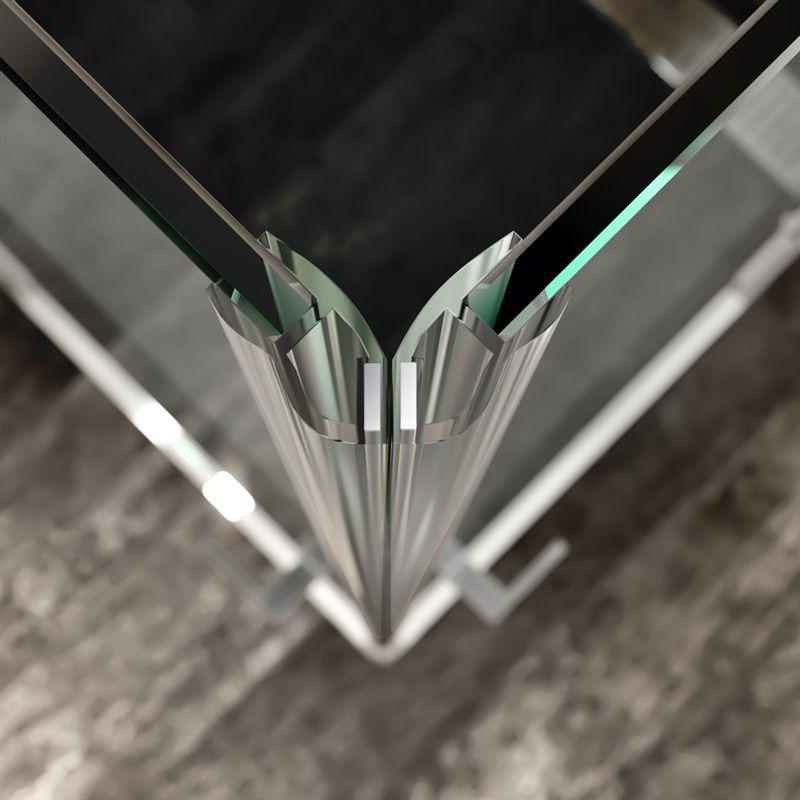 MEREO - Sprchový kout, Novea, obdélník, 110x80 cm, chrom ALU, sklo Čiré, dveře pravé a pevný díl (CK10514ZP)