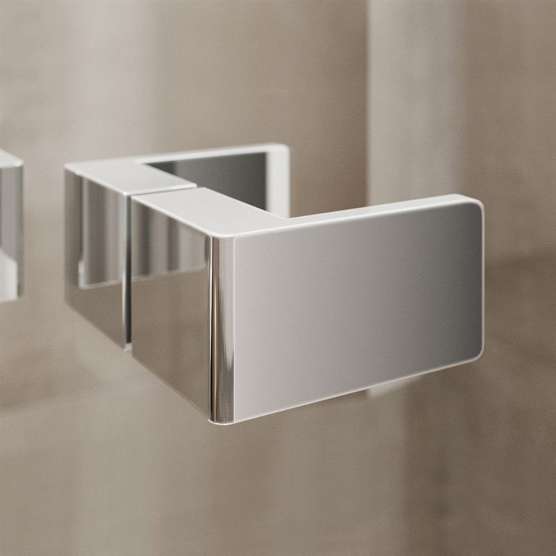 MEREO - Sprchový kout, Novea, obdélník, 110x100 cm, chrom ALU, sklo Čiré, dveře levé a pevný díl (CK10516ZL)