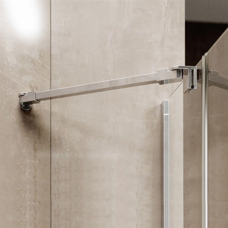 MEREO - Sprchový kout, Novea, obdélník, 110x120 cm, chrom ALU, sklo Čiré, dveře levé a pevný díl (CK10517ZL)