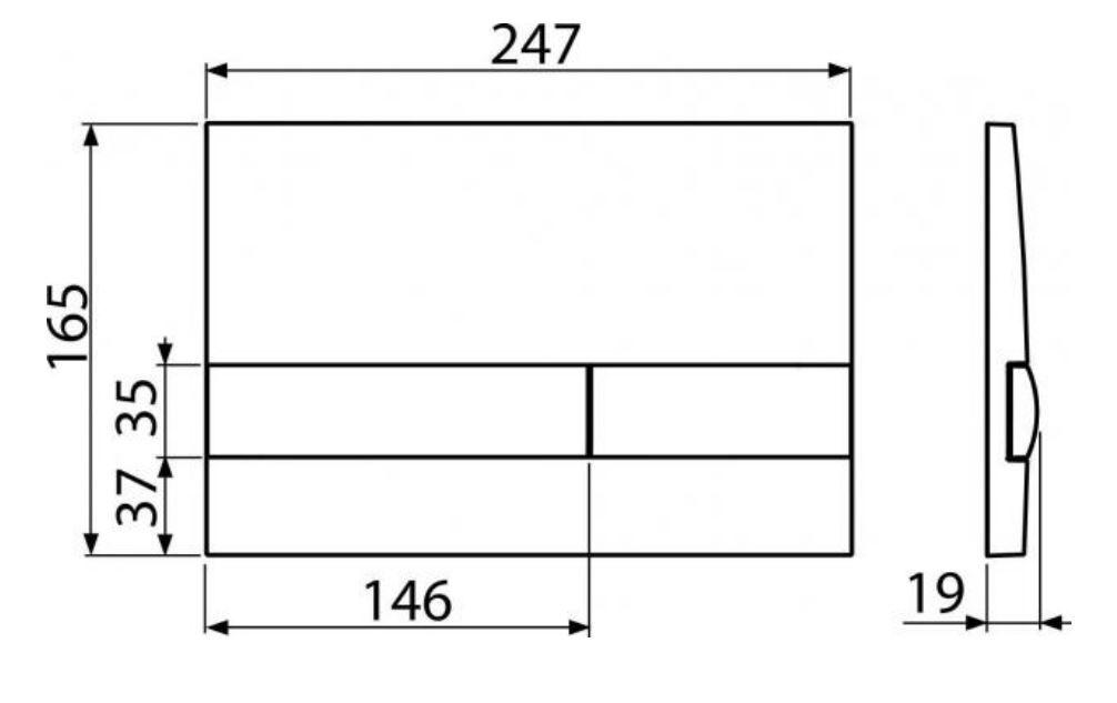 ALCAPLAST  Sádromodul - předstěnový instalační systém s bílým tlačítkem M1710 + WC REA CARLO MINI RIMLESS ČIERNY MAT + SEDADLO (AM101/1120 M1710 MM1)