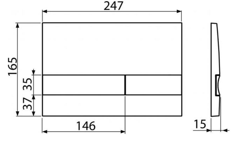 ALCAPLAST  Jádromodul - předstěnový instalační systém s bílým/ chrom tlačítkem M1720-1 + WC REA CARLO MINI RIMLESS ČIERNY MAT + SEDADLO (AM102/1120 M1720-1 MM1)