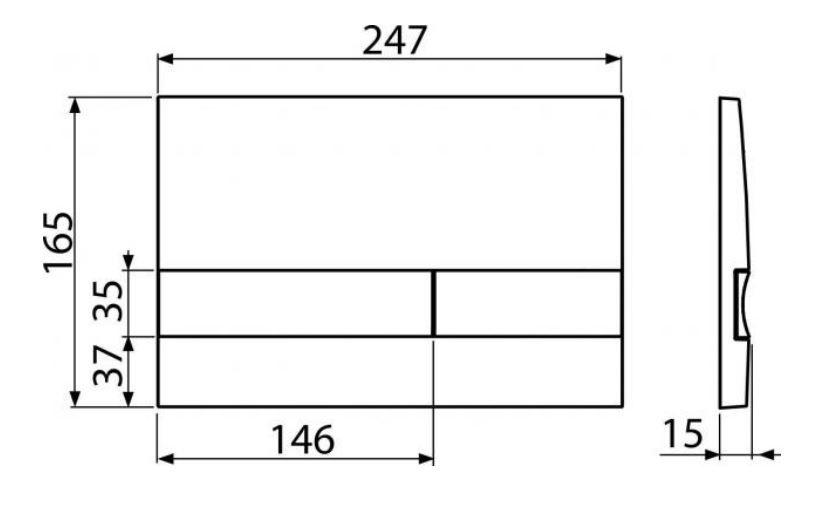 ALCAPLAST  Renovmodul - předstěnový instalační systém s chromovým tlačítkem M1721 + WC REA CARLO MINI RIMLESS ČIERNY MAT + SEDADLO (AM115/1000 M1721 MM1)