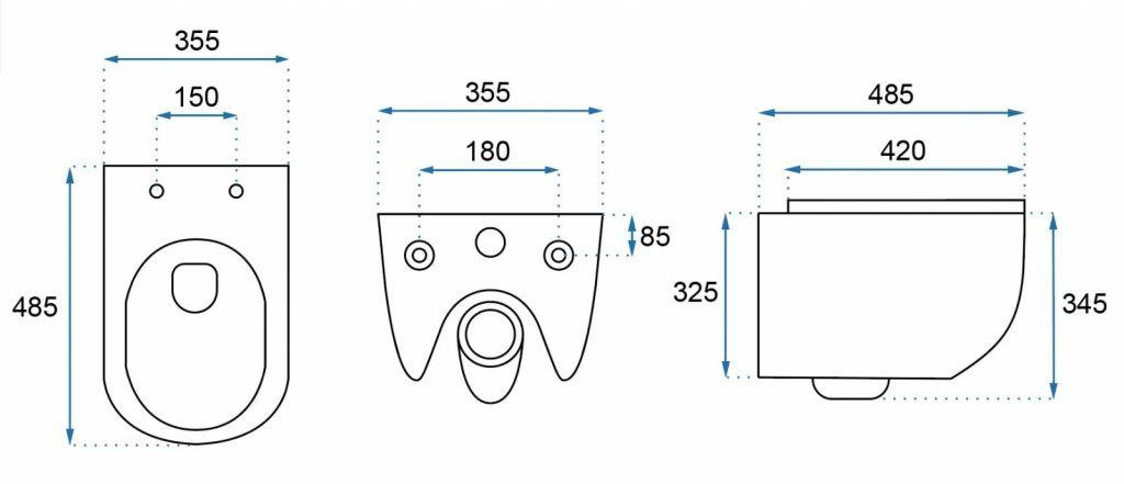 LAUFEN Podomít. systém LIS TW1 SET s bílým tlačítkem + WC REA CARLO MINI RIMLESS ČIERNY MAT + SEDADLO (H8946630000001BI MM1)