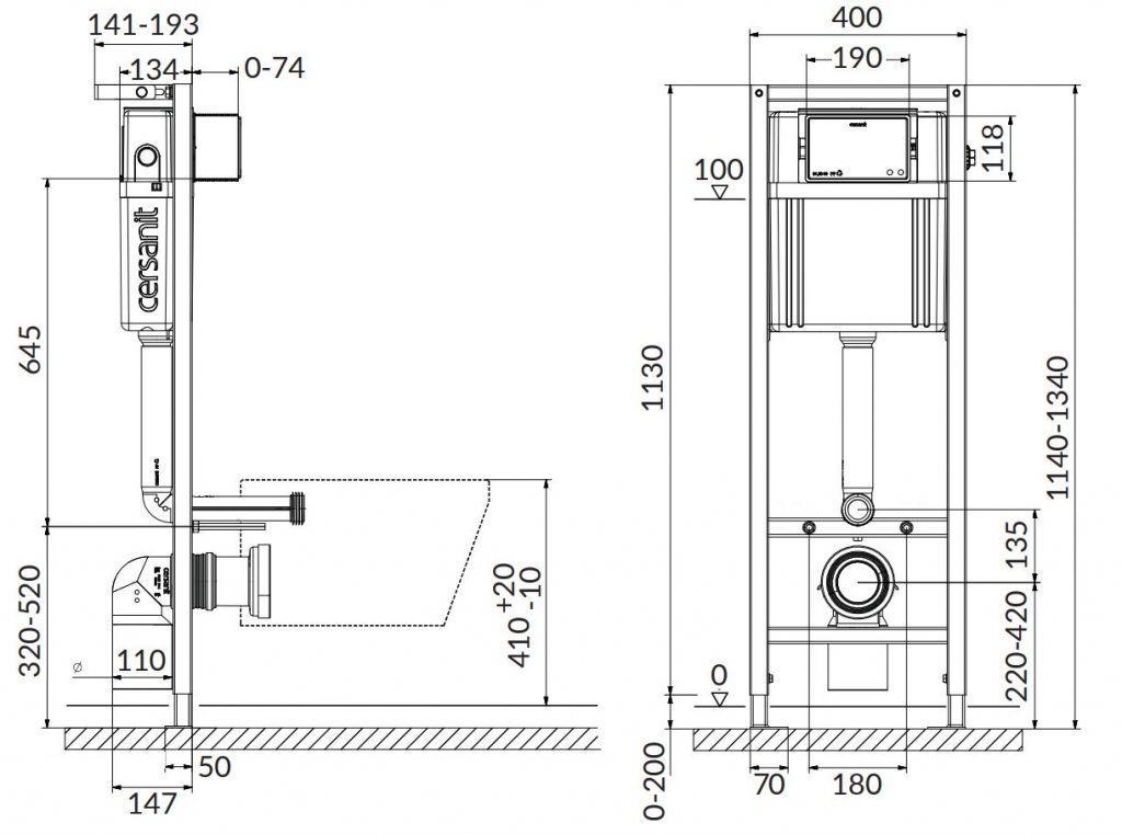 CERSANIT nádržka  AQUA 02 bez tlačítka + WC REA CARLO MINI RIMLESS ČIERNY MAT + SEDADLO (S97-063 MM1)