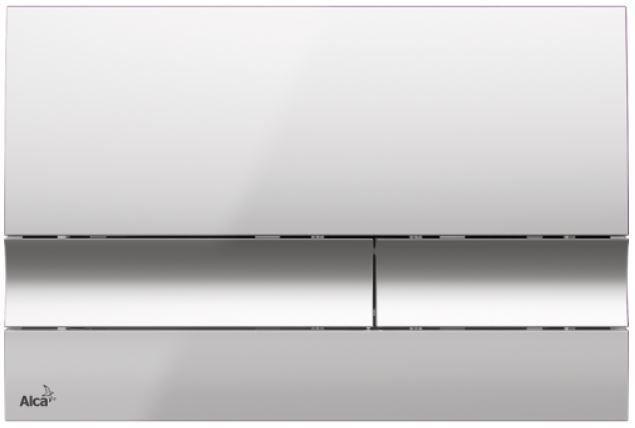 ALCAPLAST  Jádromodul - předstěnový instalační systém s chromovým tlačítkem M1721 + WC REA Ivo Rimless + SEDÁTKO (AM102/1120 M1721 IV1)