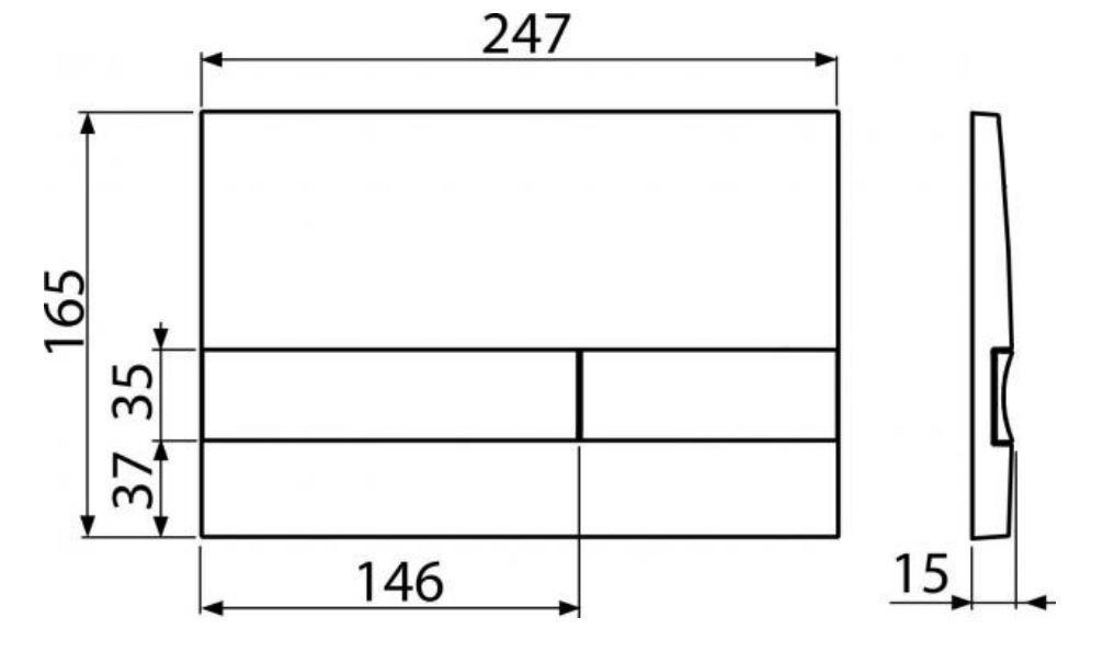 ALCAPLAST  Renovmodul - předstěnový instalační systém s bílým/ chrom tlačítkem M1720-1 + WC REA Ivo Rimless + SEDÁTKO (AM115/1000 M1720-1 IV1)
