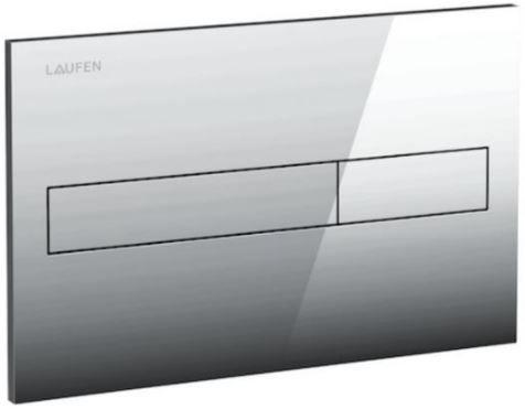 LAUFEN Rámový podomítkový modul CW1 SET s chromovým tlačítkem + WC REA Ivo Rimless + SEDÁTKO (H8946600000001CR IV1)