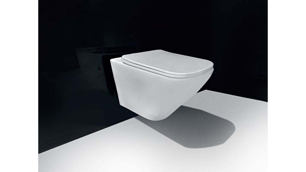 LAUFEN Podomít. systém LIS TW1 SET s bílým tlačítkem + WC REA Ivo Rimless + SEDÁTKO (H8946630000001BI IV1)
