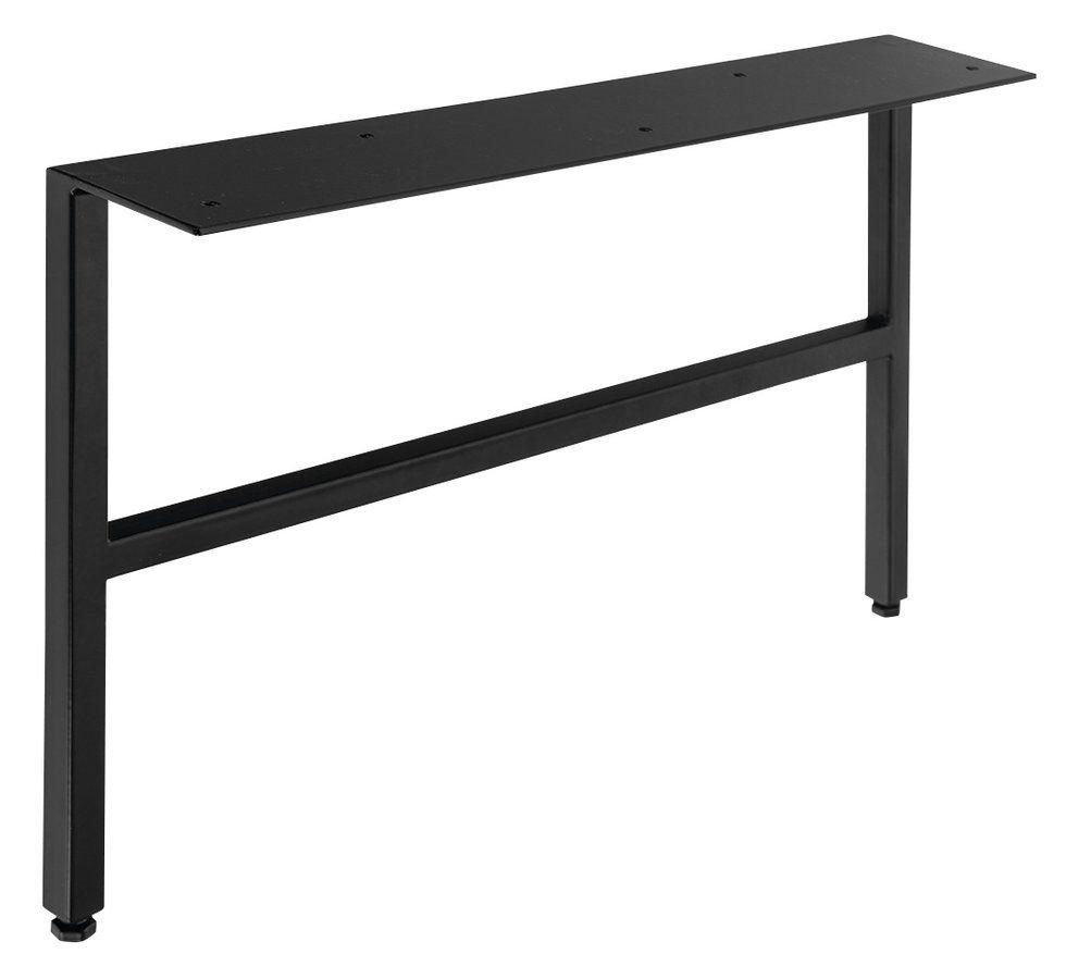 SAPHO - ODETTA podpěrné nohy 60x260-270x412mm, lakovaná ocel, černá mat, 2ks (30313)