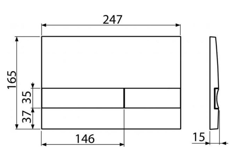 ALCAPLAST  Sádromodul - předstěnový instalační systém s chromovým tlačítkem M1721 + WC REA Carlo Flat Mini Rimless + SEDÁTKO (AM101/1120 M1721 CF1)
