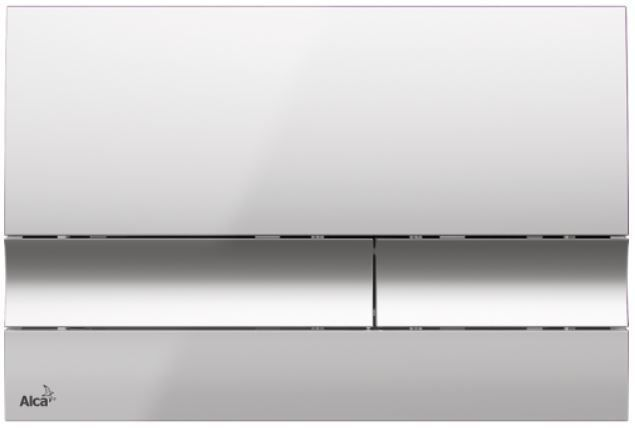 ALCAPLAST  Jádromodul - předstěnový instalační systém s chromovým tlačítkem M1721 + WC REA Carlo Flat Mini Rimless + SEDÁTKO (AM102/1120 M1721 CF1)