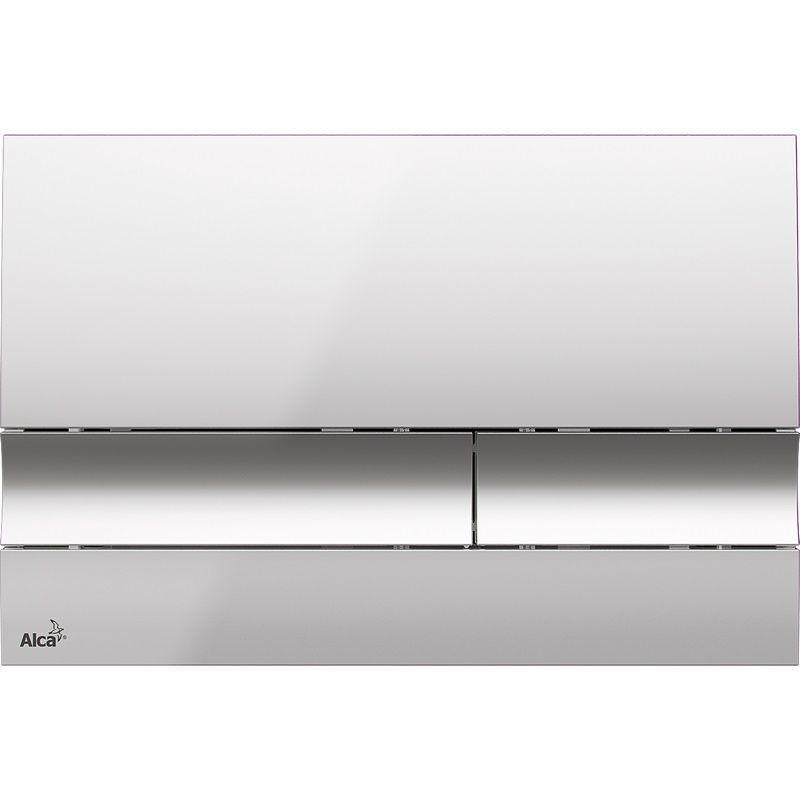 ALCAPLAST  Renovmodul - předstěnový instalační systém s chromovým tlačítkem M1721 + WC REA Carlo Flat Mini Rimless + SEDÁTKO (AM115/1000 M1721 CF1)