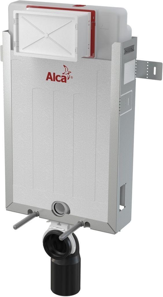 ALCAPLAST  Renovmodul - předstěnový instalační systém bez tlačítka + WC REA Carlo Flat Mini Rimless + SEDÁTKO (AM115/1000 X CF1)