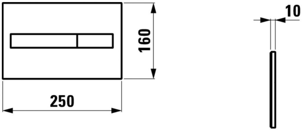 LAUFEN Rámový podomítkový modul CW1 SET s chromovým tlačítkem + WC REA Carlo Flat Mini Rimless + SEDÁTKO (H8946600000001CR CF1)