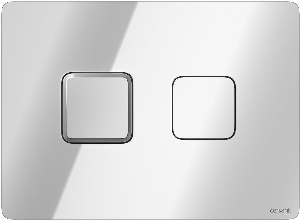 CERSANIT POD. SYSTÉM AQUA 52 PNEU S QF + TLAČÍTKO SQUARE CHROM + WC REA Carlo Flat Mini Rimless + SEDÁTKO (S97-062 SQCR CF1)