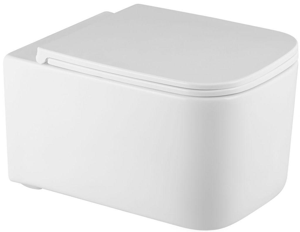 ALCAPLAST  Sádromodul - předstěnový instalační systém s bílým/ chrom tlačítkem M1720-1 + WC REA Tino Rimless + SEDÁTKO (AM101/1120 M1720-1 TR1)