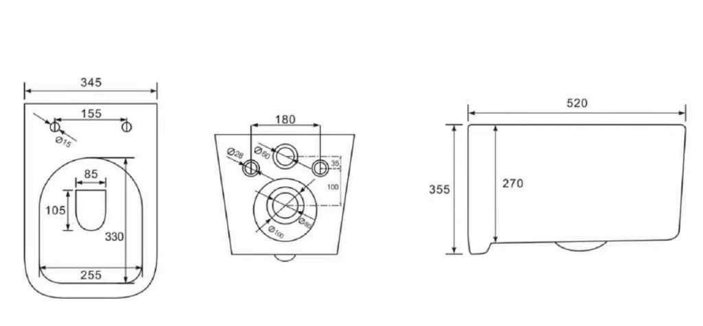 ALCAPLAST  Jádromodul - předstěnový instalační systém bez tlačítka + WC REA Tino Rimless + SEDÁTKO (AM102/1120 X TR1)