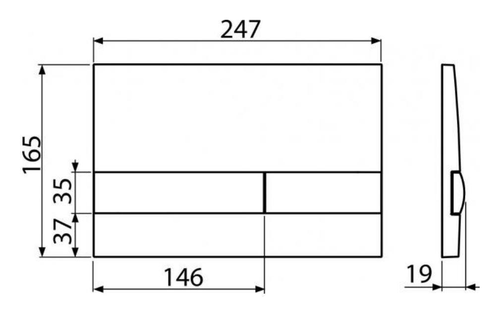 ALCAPLAST  Renovmodul - předstěnový instalační systém s bílým tlačítkem M1710 + WC REA Tino Rimless + SEDÁTKO (AM115/1000 M1710 TR1)