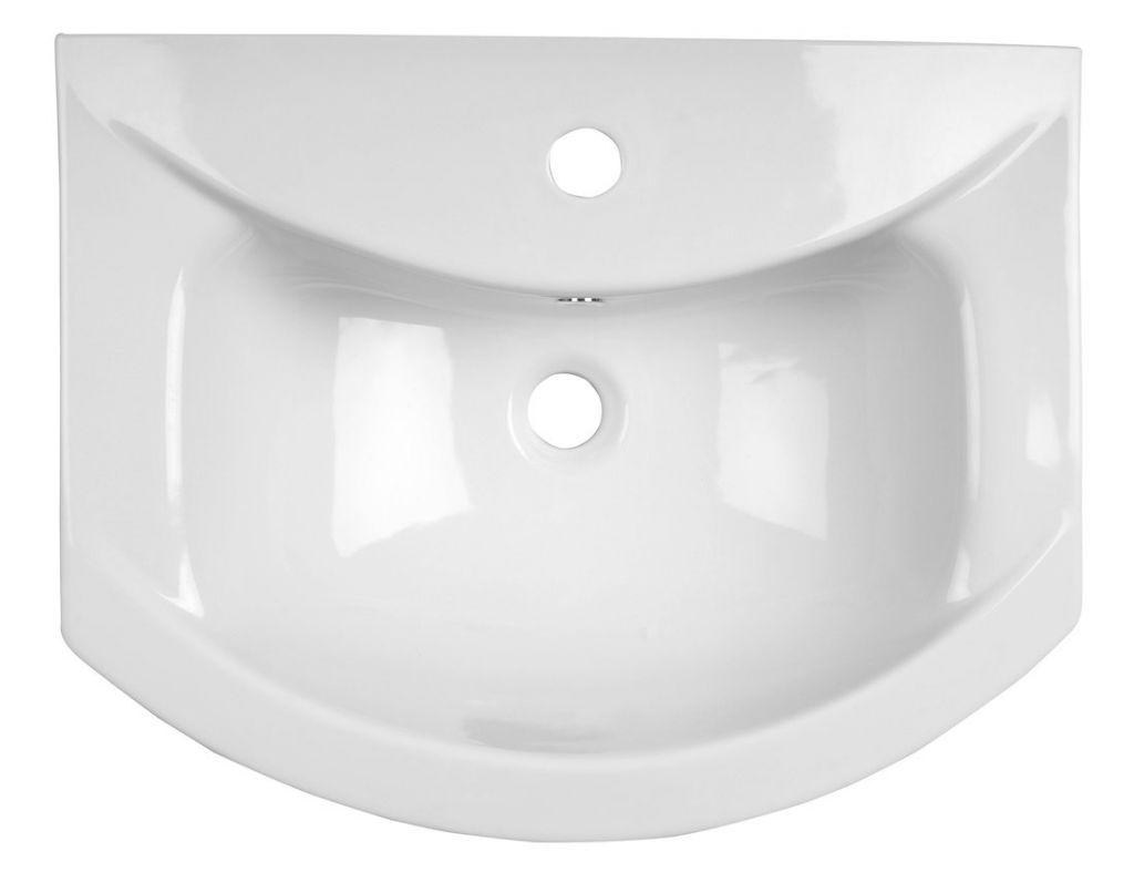 AQUALINE - ZERO nábytkové umyvadlo 55x43,5cm (6055)