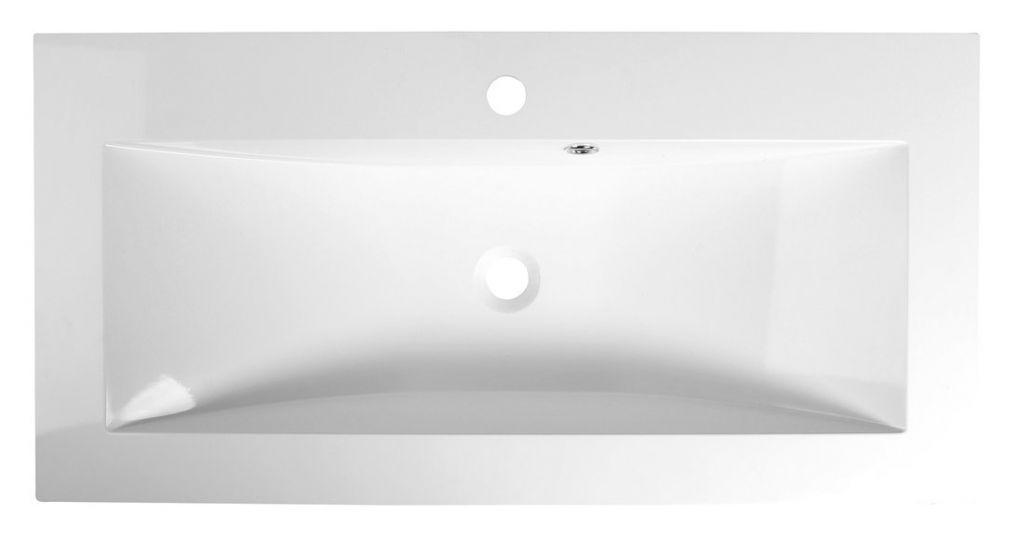 SAPHO - YUKON umyvadlo 90x45cm, litý mramor, bílá (55900)