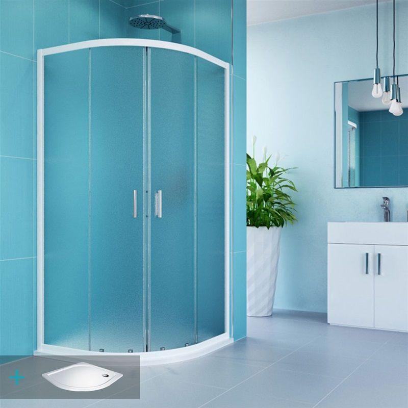 MEREO Kora sprchový set: sprchový kout R550, 90 cm, vanička, sifon CK35101ZN