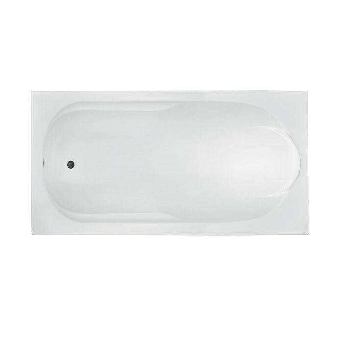 Akrylátová obdélníková vana Bari 160 (160x70x40 cm | objem: 166 l) | A-Interiéry BARI160X70
