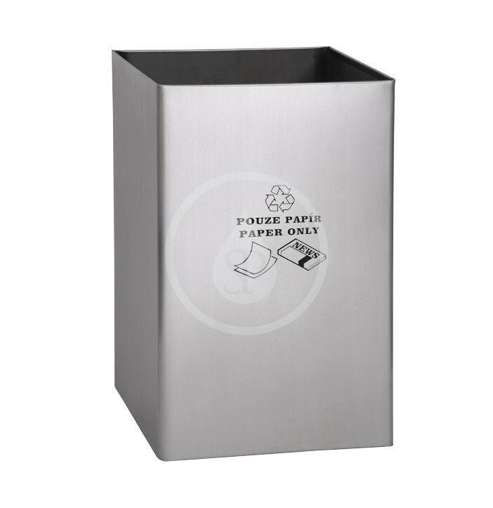 SANELA Nerezové odpadkové koše Odpadkový koš 67 l, na papír, matný nerez SLZN 49AB