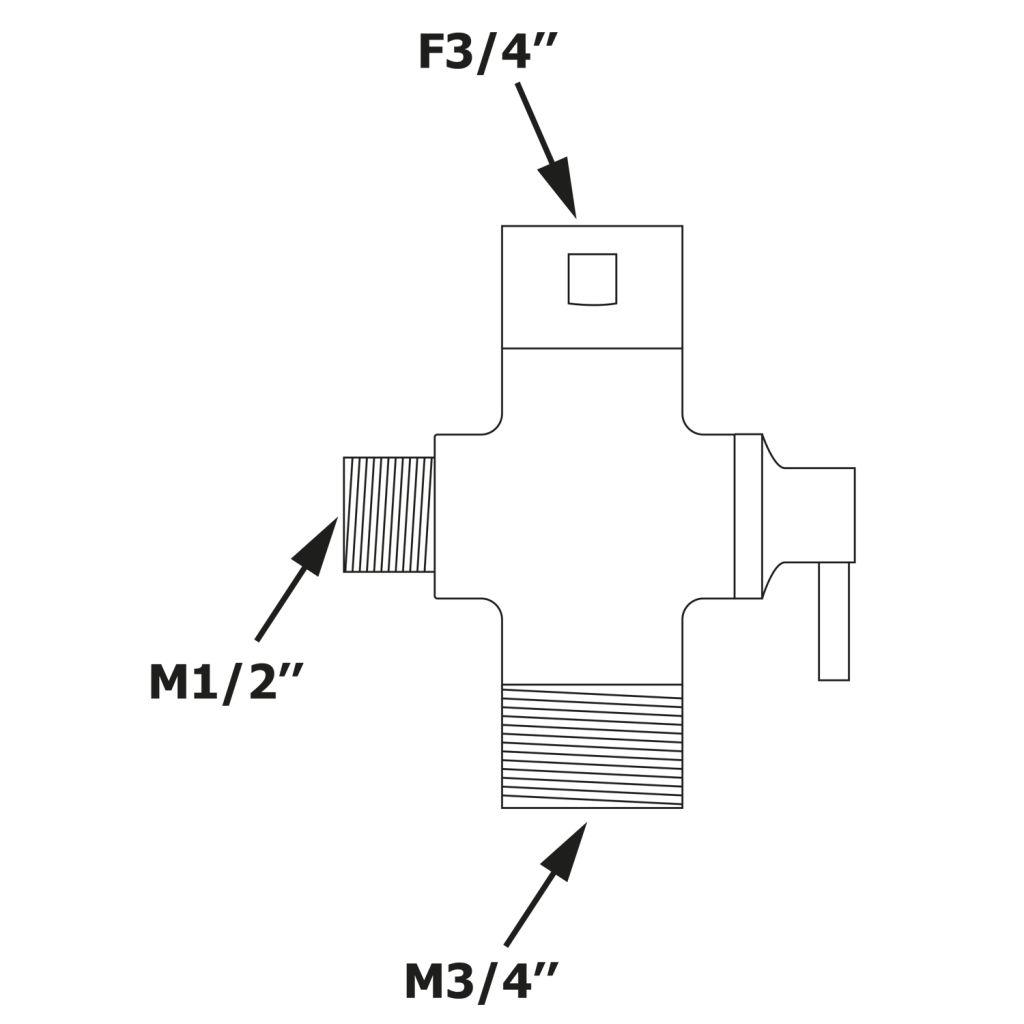Bruckner - Přepínač pro sprchový sloup F3/4