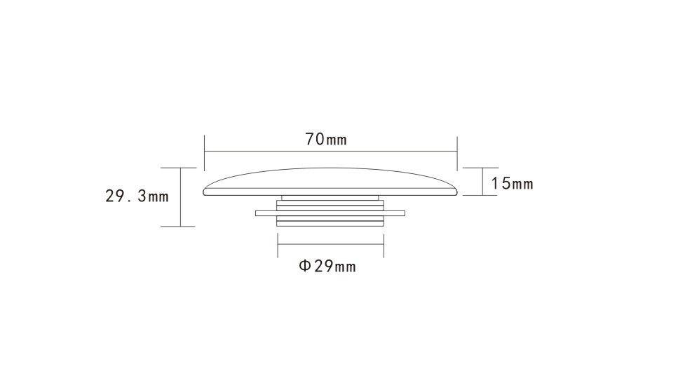 HOPA - Umyvadlová výpusť click-clack s přepadem CHROM (OLKLT90B)
