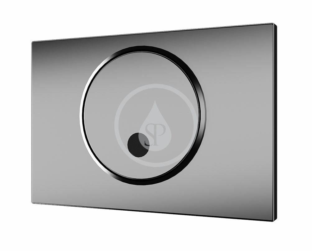 SANELA Příslušenství Ovládací tlačítko splachování pro WC, pro splachovací nádržku Geberit, nerez SLW 02GT