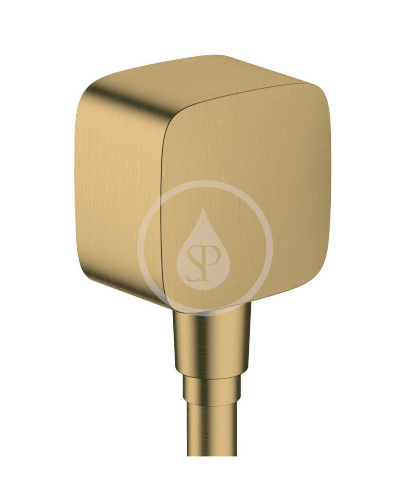 HANSGROHE Fixfit Sprchové kolínko se zpětným ventilem, kartáčovaný bronz 26457140