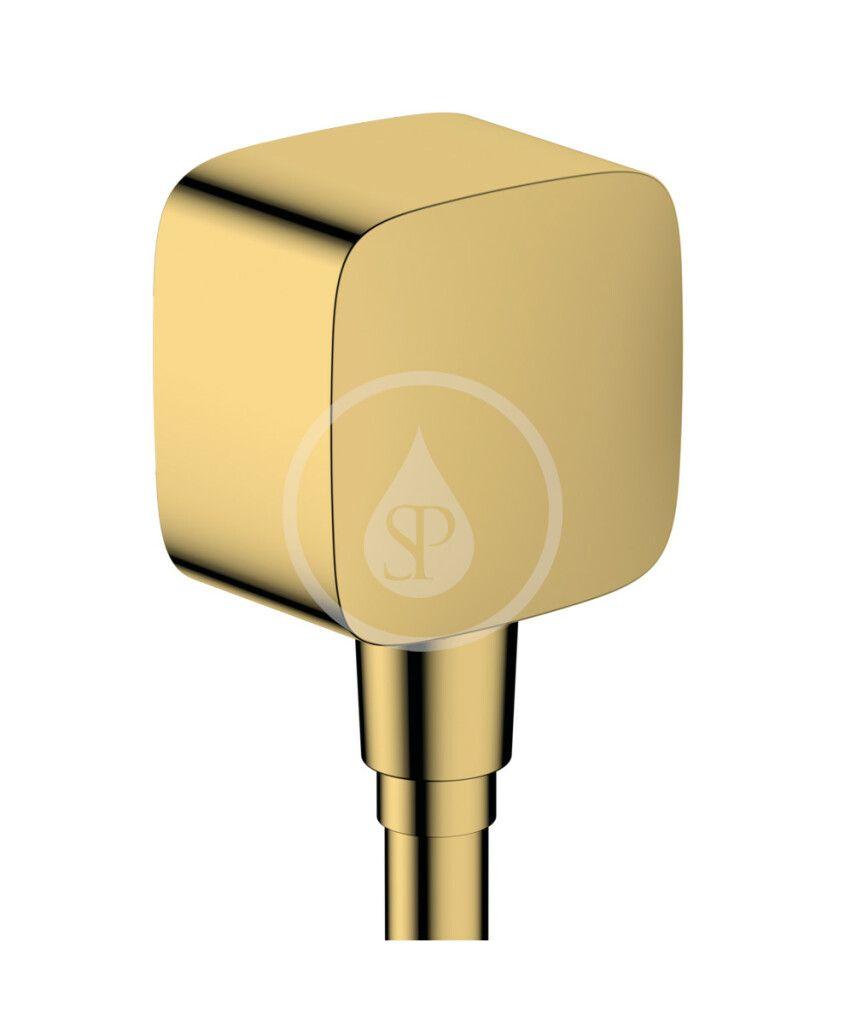 HANSGROHE Fixfit Sprchové kolínko se zpětným ventilem, leštěný vzhled zlata 26457990