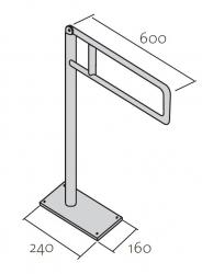 CERSANIT - Podlahové madlo 60 pro WC, pohyblivé  (K97-036), fotografie 6/3
