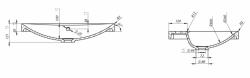 Nábytkové umyvadlo AMAO 60 z konglomerátu s otvorem pro armaturu (K11-0112) - CERSANIT, fotografie 12/6