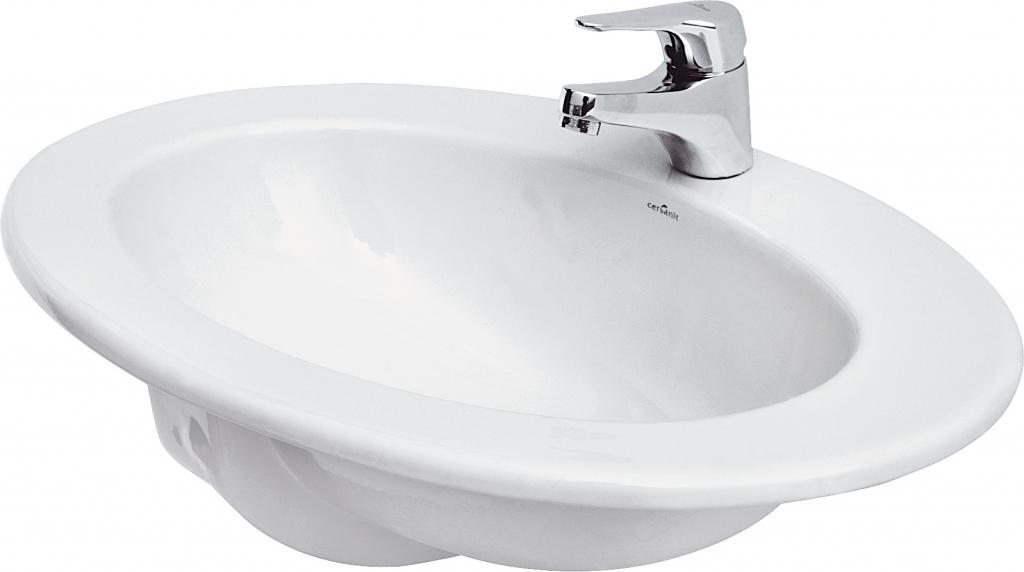 CERSANIT - Zápustné umyvadlo GAMMA 60 s přepadem (K11-0012)