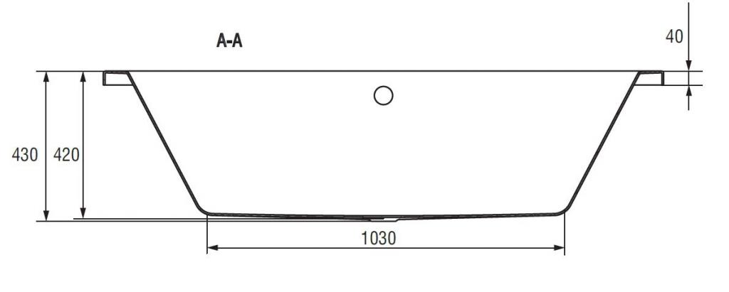 CERSANIT - VANA INTRO 160X75 CW (S301-067), fotografie 19/11