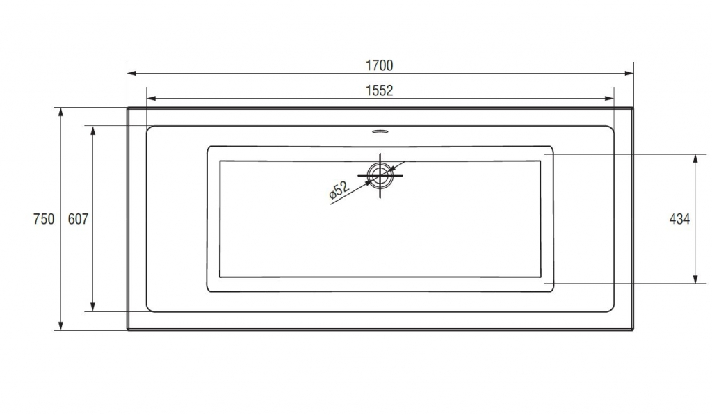 CERSANIT - VANA INTRO 170X75 CW (S301-068), fotografie 17/11