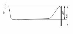 CERSANIT - VANA FLAVIA 160X70 cm (S301-106), fotografie 18/10
