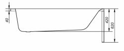 CERSANIT - VANA FLAVIA 170X70 cm (S301-107), fotografie 18/11
