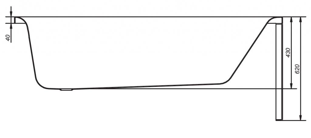 CERSANIT - VANA OCTAVIA 160X70 CW (S301-110), fotografie 15/9