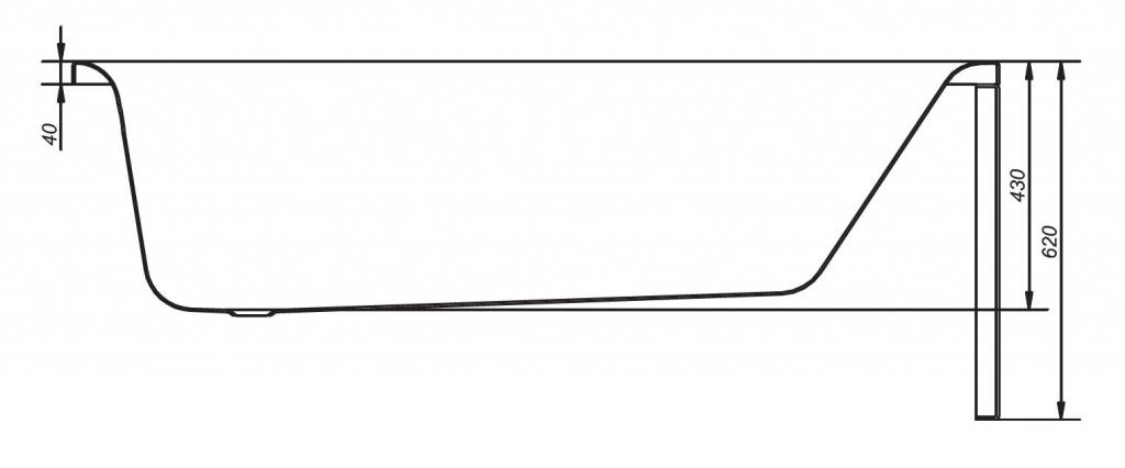 CERSANIT - VANA OCTAVIA 170X70 cm (S301-111), fotografie 16/9