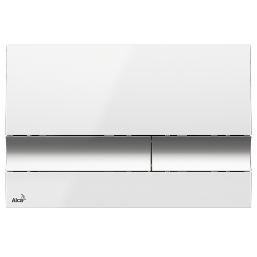 Alcaplast Ovládací tlačítko , bílá/chrom-lesk M1720-1 (M1720-1)