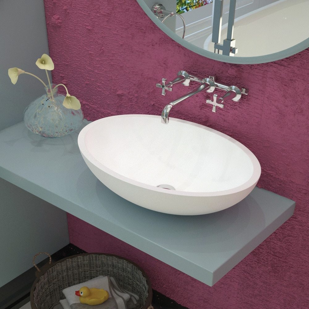 Aquatek - ROSE oválné umyvadlo 50 x 35 x 15 cm (ROSE)