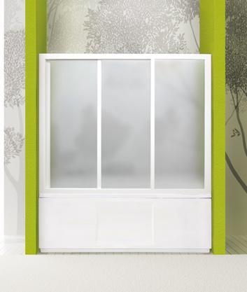 Aquatek - Vanová zástěna ROYAL V3 151-160cm, výplň sklo - grape (ROYALV3160-19)