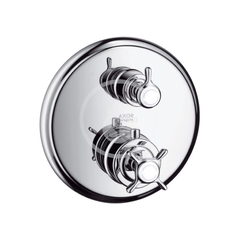 AXOR - Montreux Termostatická baterie pod omítku s uzavíracím a přepínacím ventilem, chrom (16820000)