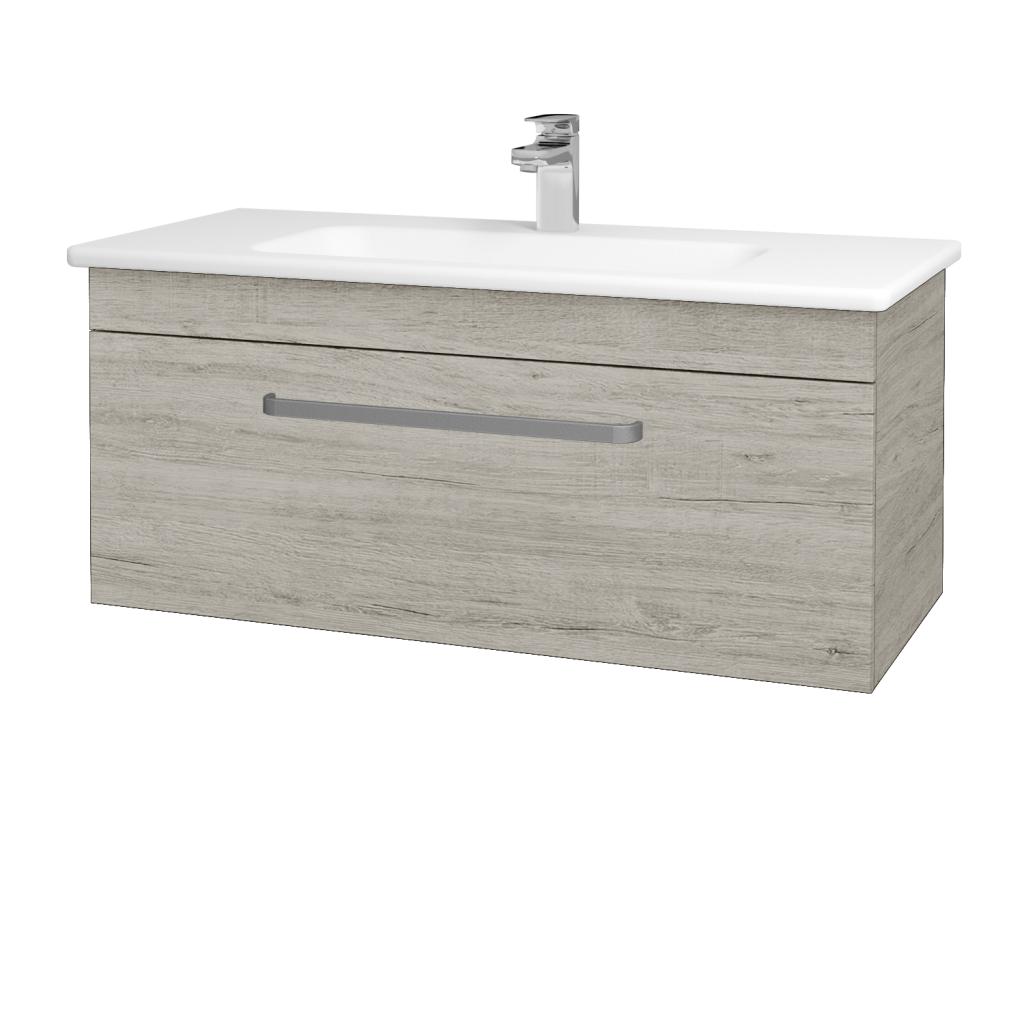 Dřevojas - Koupelnová skříň ASTON SZZ 100 - D05 Oregon / Úchytka T01 / D05 Oregon (131418A)