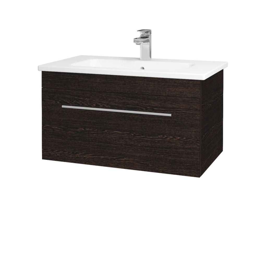 Dřevojas - Koupelnová skříň ASTON SZZ 80 - D08 Wenge / Úchytka T02 / D08 Wenge (131364B)