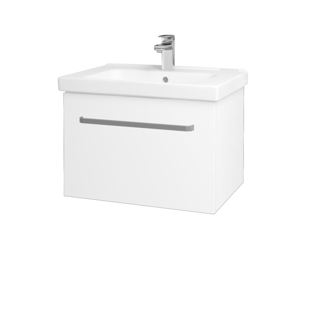 Dřevojas - Koupelnová skříň BIG INN SZZ 65 - N01 Bílá lesk / Úchytka T01 / L01 Bílá vysoký lesk (132750A)