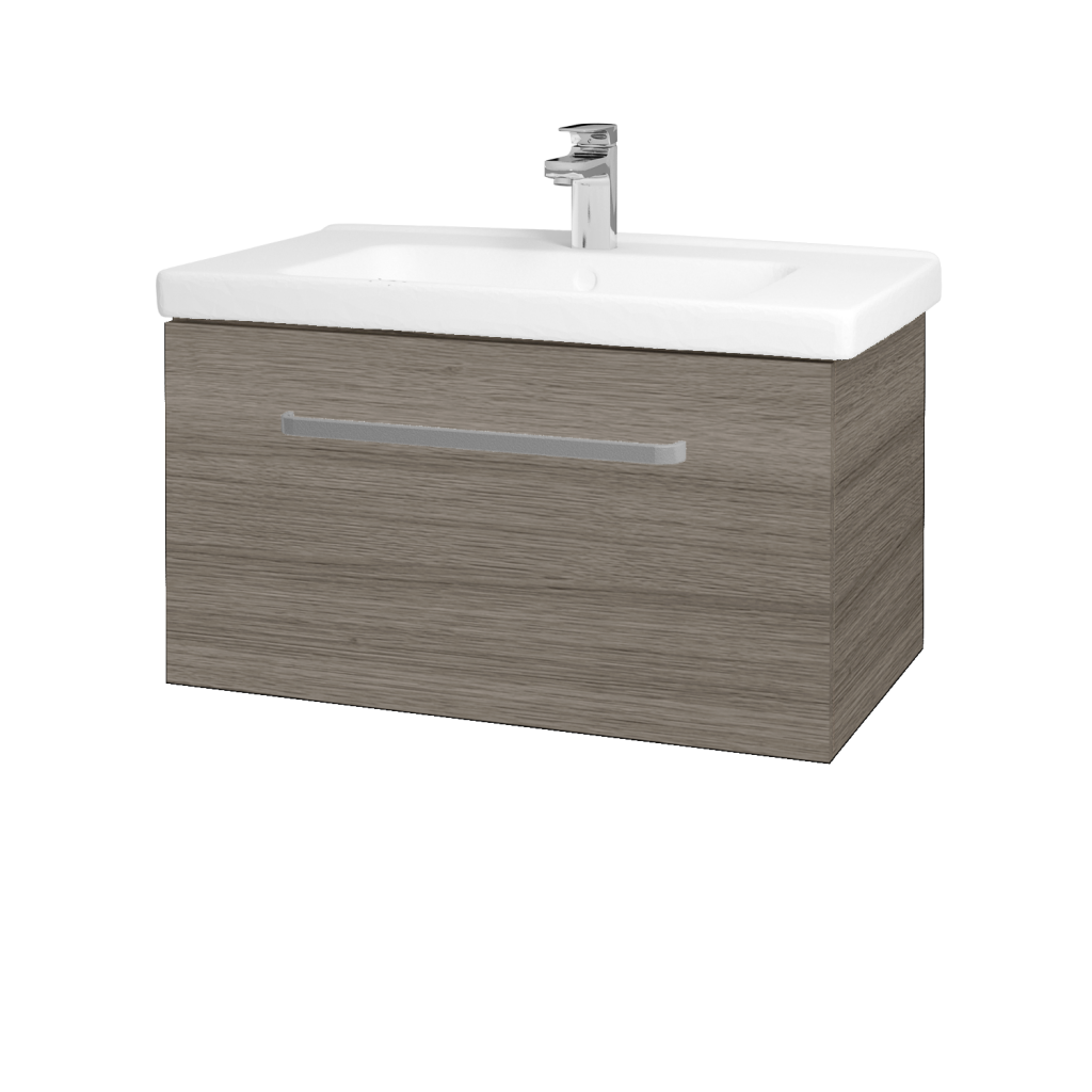 Dřevojas - Koupelnová skříň BIG INN SZZ 80 - D03 Cafe / Úchytka T01 / D03 Cafe (132644A)
