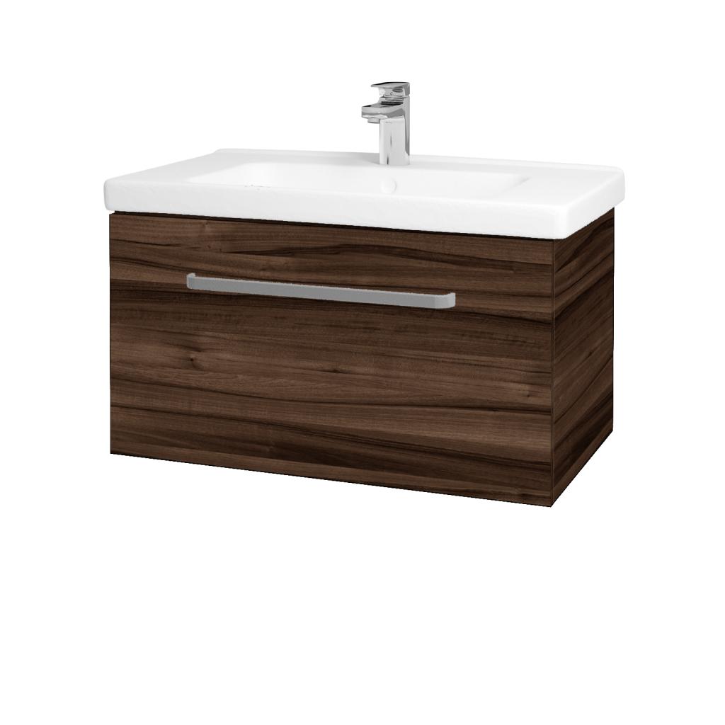Dřevojas - Koupelnová skříň BIG INN SZZ 80 - D06 Ořech / Úchytka T01 / D06 Ořech (132675A)